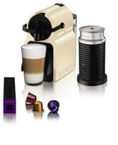 Nespresso coffee machine including Aeroccino and free pods also possible Free Denny wine glasses £99.99 @ ecookshop