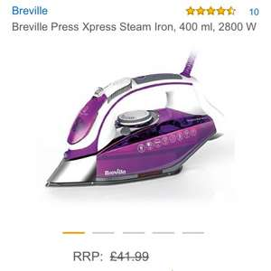 £28.99 Breville Press Xpress Steam Iron, 400 ml, 2800 W @ Amazon - Delivered