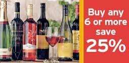25% off when you buy 6 or more bottles of wine @ Sainsburys Starting 28