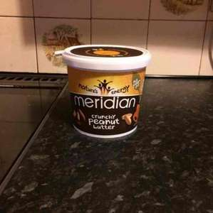 Meridian crunchy peanut butter 1kg £4.49 with free click and collect and 12.12% cash back (from TCB) from gnc