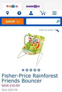Fisher Price Rainforest Friends Bouncer was £36.99 now £26.99 @ TOYSRUS
