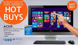Acer Aspire Z3-615 23 inch Touchscreen All-in-one Desktop, Black, Free delivery, 2 year warranty for £499.99 @ Costco