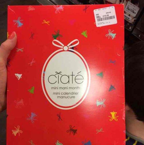 ciate nail varnish advent calendar £19.99 tkmaxx