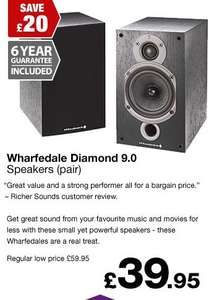 Wharfedale Diamond 9 Speakers £39.95 @ Richer Sounds (VIP Members Club)