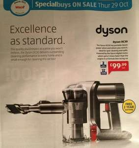 Dyson DC30 only £99.99 at Aldi from 29 October.