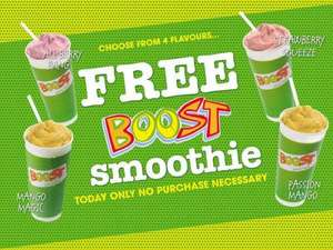 Free Boost smoothies between 1-7 boost intu shopping centre Glasgow
