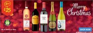ASDA 6 bottles selected wines £25 just £4.16 each Casillero, Campo Viejo and many more quality wines