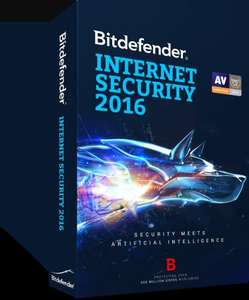 Bitdefender Internet Security 2016 (3 PCs) 18 Months for £9.70 @ Bitdefender