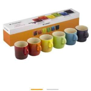 Le Creuset Stoneware Rainbow Espresso Mugs - Set of 6 £46.40 @ Amazon