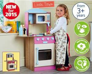Large Wooden Kitchen £29.99 at ALDI (From 29th Oct)