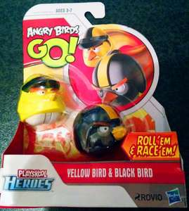 Angry Birds Go Playskool Heroes Roll'em and Race'em - Hasbro £1.00 @ Poundworld