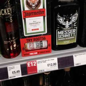Jaegermeister £12 in coop with free can of ginger ale