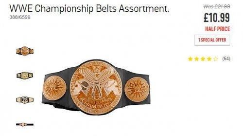 wwe championship belts £10.99 @ argos