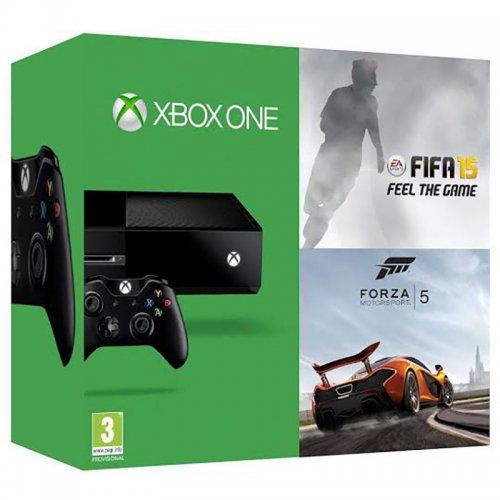 Microsoft Xbox One 500GB Plus FIFA 15 Plus Forza Motorsport 5 brand new from ebay tesco for £289.00