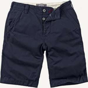 "Fatface mens ""Cove"" flat front shorts: stone, navy and green colours for £12 (click and collect)"