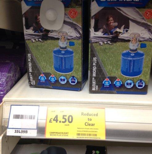 Campingaz Bleuet micro plus stove £4.50 @ Tesco (Cheetham Hill)