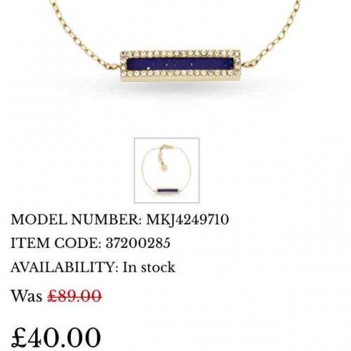 Michael Kors & designer jewellery £40 @ Goldsmiths