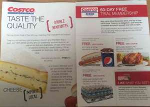 free Chicken, water, coke, hot dog, with Costco membership, free  60 day trial membership for