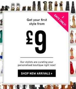 75% off first pair shoes for new customers - from £9 @ justfab
