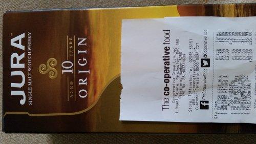 Jura 10 yr Origin Whisky  £25 @ co-op