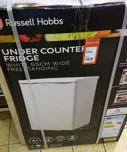 Russell Hobbs fridge 55cm under-counter Aldi instore £50