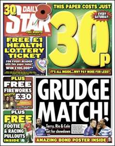 Daily Star 30p - Fireworks Voucher in Sainsburys (£20 spend - £30 free)