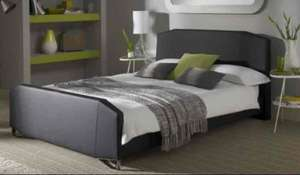 Ziggy Black Faux Leather Bed 0% Finance £229.49 delivered at Bensons for Beds