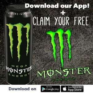 Free Mega Monster Energy when you sign up @ One Stop App