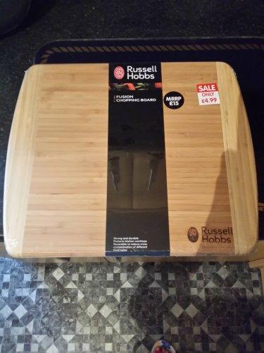 Russel Hobbs wooden chopping board £4.99 @ B&M