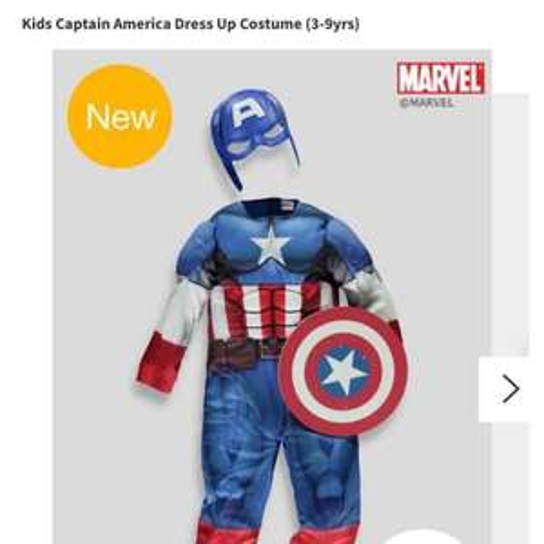 captain america dress up. £10 @ matalan. free c&c