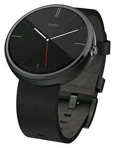 Moto 360 watch with leather strap £115.96 @ Buyur