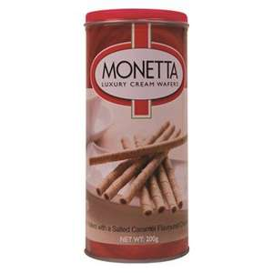 Monetta Luxury Cream Wafers 200g - Salted Caramel ONLY £1.00 @ Poundworld Plus (INSTORE)