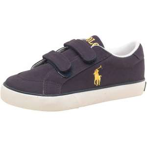 Ralph Lauren, childrens Brisbane navy canvas shoes, size 2 only, M and M £13.98 delivered