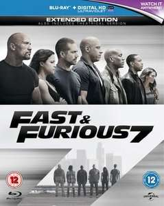 Fast and Furious 7 Extended Edition Bluray (preowed) £6.50 + 50p postage @ xvmarketplace.co.uk