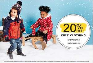20% off Kids Clothing @ Asda George