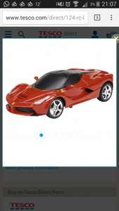 1:24 Rc La Ferrari, Toy Remote Control Car, Officially licensed by Ferrari, 2for £15 or £13 each @ Tesco Direct