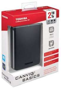 "** Toshiba Canvio Basics Mobile External Drive 2.5"" 2TB USB 3.0 now £49 @ Tesco Direct (Free CnC) **"