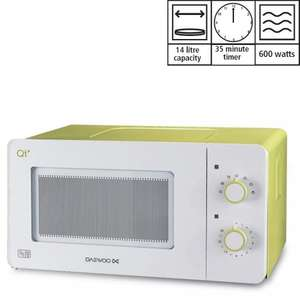 Compact Daewoo 600w 14l microwave £39.99 / £35.99 with code + free delivery @ 24studio