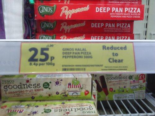 Gino's Deep Pan Pepperoni Pizza - 25p in Tesco