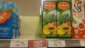 Del Monte 1ltr juices half price 70p waitrose