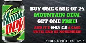 Mountain Dew 330ml Cans 48 Cans for £15 plus £3.99 PNP @ American Soda