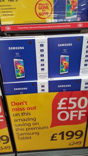 Samsung galaxy tab s 8.4 £199 @ Tesco instore