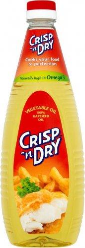 Crisp 'n Dry Vegetable Oil   1 Lt  Half Price  £1.00 @ Sainsbury's
