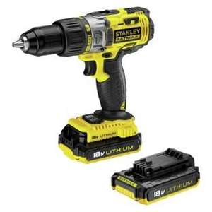 Stanley Fatmax 18V Cordless Hammer Driver with 2 Batteries Carry Case &  3 year manufacturer's guarantee (+£5.00 Argos Gift Card). £74.99 @ Argos