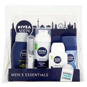Nivea for men travel essentials kit was £6.65 now £3.31 @ superdrug