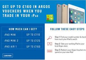 Save £160! iPad Air 2 Wi-Fi 64GB, £319 after trade-in at argos