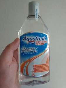 Aquafresh Extreme Clean alcohol free mouthwash 500 ml 62p (RTC) @ Tesco