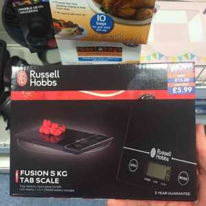 Russell Hobbs digital scales. £5.99 in B&M