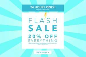 Peacocks 24 hour flash sale 20% off everything