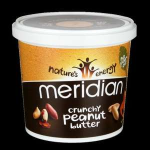 6 x 1kg Meridian Crunchy Peanut Butter for £23.09 delivered (12.2% TCB) @ GNC